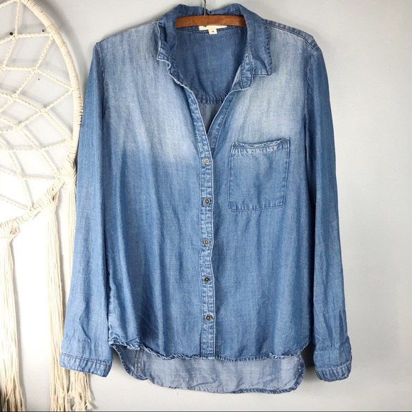 781a7849dce cloth & stone Tops | Cloth Stone Denim Chambray Ombr Wash Top | Poshmark
